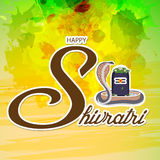 Shivratri. Illustration of a banner for Happy Shivratri Stock Images