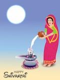 Shivratri. Illustration of a banner for Happy Shivratri Royalty Free Stock Photos