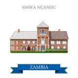 Shiwa Ngandu Zambia. Flat historic sight web vecto Stock Photo