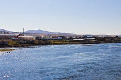 ShiWei miasteczko chińsko-rosyjska granica, Wewnętrzny Mongolia, Chiny Fotografia Stock