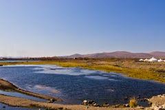 ShiWei miasteczko chińsko-rosyjska granica, Wewnętrzny Mongolia, Chiny Obraz Royalty Free