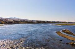 ShiWei miasteczko chińsko-rosyjska granica, Wewnętrzny Mongolia, Chiny Fotografia Royalty Free
