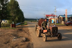 Shiwei Russian nationality townships. Is located in Sino-Russia frontier area, in the territory of Hulunbeier Ergun City in Inner Mongolia. It is one of the stock image