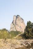 Shiweiyan(rock) and brook Stock Photography