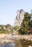 Shiweiyan(rock) and brook Royalty Free Stock Photo