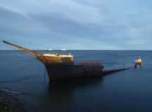 Shiwpreck south of Punta Arenas Stock Photos