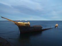 Shiwpreck south of Punta Arenas. Shipwreck south of Punta Arenas in Chile Stock Photos