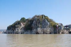 Shizhongshan scenery. Located in the Yangtze River, Shizhongshan Chinese Stock Photo