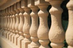Shizhu hand railings. An image of handcrafted stone pillar railings Royalty Free Stock Photo