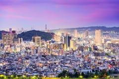 Shizuoka, Japan Skyline. Shizuoka, Japan downtown skyline at twilight Stock Photo