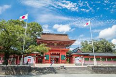 Shizuoka Prefecture ,Japan - August 19, 2017:Fujisan Sengen Shri Royalty Free Stock Photography