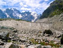 Shkhelda-Gletscher Lizenzfreies Stockbild