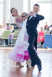 Shkinderov Vladislav and Belisova Polina Perform Youth-2 Standard Program Royalty Free Stock Photography