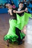 Shkinderov Vladislav and Belisova Polina Perform Youth-2 Standard Program Stock Image