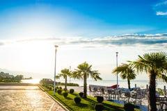 Shkoder Albanien See und Chais-Ansicht Stockfotos