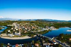Shkoder-Stadt-Ansicht Lizenzfreies Stockbild