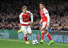 Nacho Monreal and Alexis Sanchez Stock Images