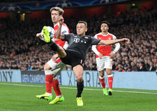 Nacho Monreal and Rafinha Stock Photo