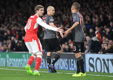 Nacho Monreal and Arjen Robben Stock Photography
