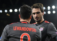 Mats Hummels. Football players pictured during UEFA Champions League Group Last 16 Round game between Arsenal FC and Bayern Munich on March 7, 2017 at Emirates Royalty Free Stock Photo