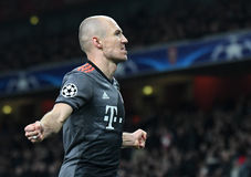 Arjen Robben. Football players pictured during UEFA Champions League Group Last 16 Round game between Arsenal FC and Bayern Munich on March 7, 2017 at Emirates Stock Photos