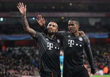 Arturo Vidal and Douglas Costa Stock Image