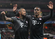 Arturo Vidal and Douglas Costa Stock Photography