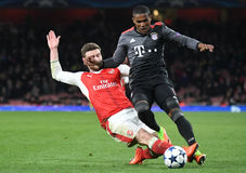 Shkodran Mustafi and Douglas Costa Royalty Free Stock Photos