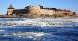 Shlisselburg, fortaleza Oreshek imagens de stock