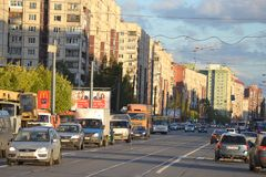 Shlisselburgsky-Allee, St Petersburg Stockfotos
