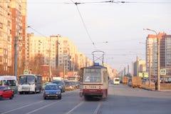 Shlisselburgsky-Allee, St Petersburg Stockbilder