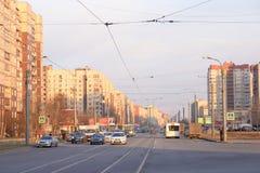 Shlisselburgsky-Allee, St Petersburg Stockfoto