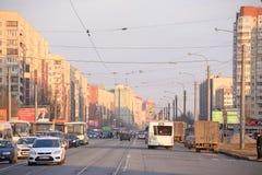 Shlisselburgsky-Allee, St Petersburg Lizenzfreies Stockfoto