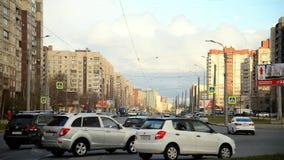 Shlisselburgsky avenue, St. Petersburg. stock footage