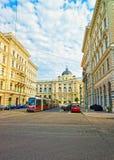 Shmerlingplatz有对自然历史维也纳博物馆的看法  库存照片