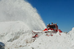 Shnekorotor removes snow Royalty Free Stock Photography