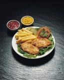 Shnitzel del pollo Imagen de archivo libre de regalías