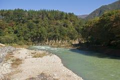 Sho River, Shirakawa-go, Japan Royalty Free Stock Image