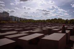 Shoa纪念碑柏林 免版税库存照片