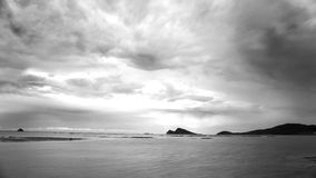 Shoal Bay Queensland Australia Black And White Royalty Free Stock Images