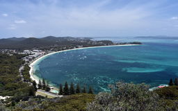 Shoal bay on a sunny day from Mount Tomaree Lookout Royalty Free Stock Photos