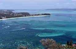 Shoal bay on a sunny day from Mount Tomaree Lookout Royalty Free Stock Image