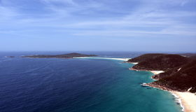 Shoal bay on a sunny day from Mount Tomaree Lookout Royalty Free Stock Photo