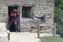 Shoal Creek生存历史博物馆 免版税库存照片