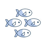 Shoal of fish icon Royalty Free Stock Photography