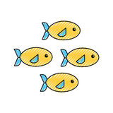 Shoal of fish icon Royalty Free Stock Image