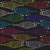 A shoal of fish seamless pattern Royalty Free Stock Photos