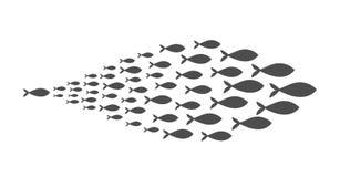 Shoal of fish. Vector illustration vector illustration