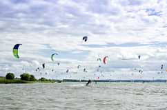 Shoal Spot of kiteboarding Royalty Free Stock Image