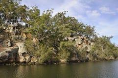 Shoalhaven River escarpment Royalty Free Stock Images